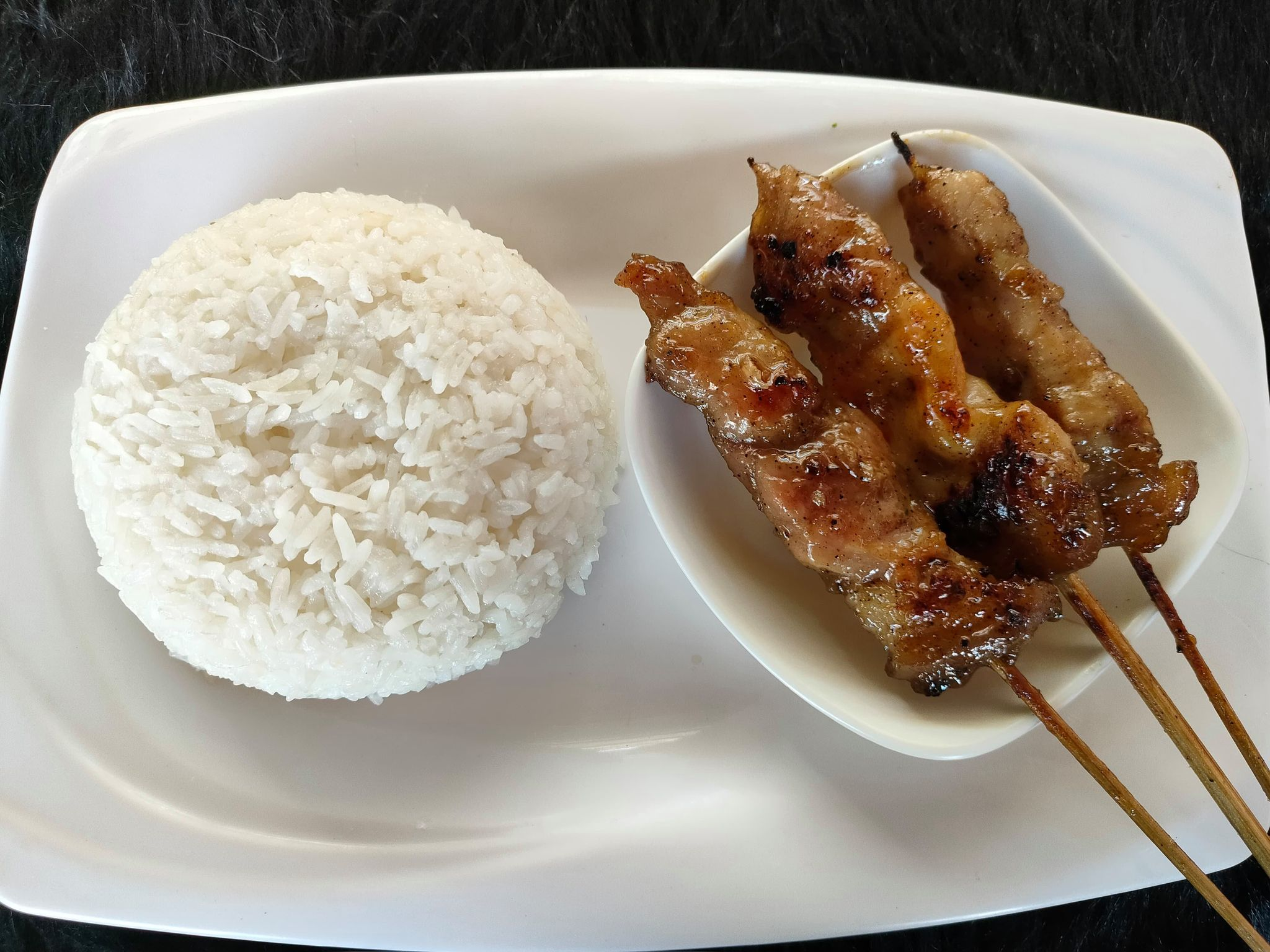 3 pcs bbq with rice